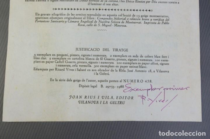 Coleccionismo: 24 Goigs/Aleluyas de les Ermites de Montserrat-Primera edición de 1968-Joan Rius i Vila Editor - Foto 4 - 213387720