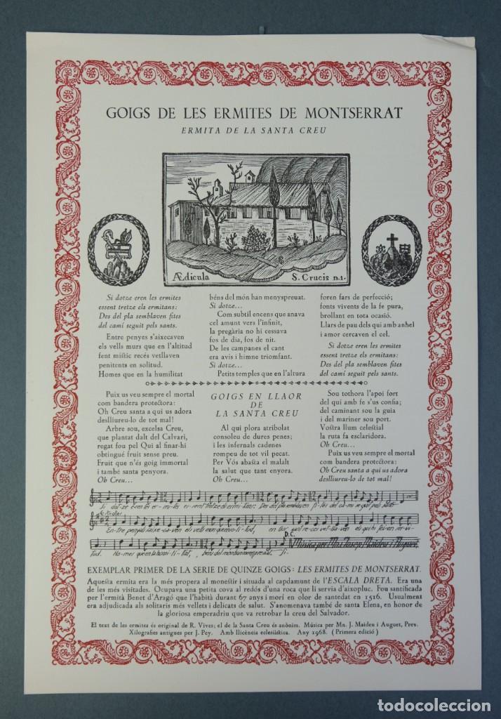 Coleccionismo: 24 Goigs/Aleluyas de les Ermites de Montserrat-Primera edición de 1968-Joan Rius i Vila Editor - Foto 5 - 213387720