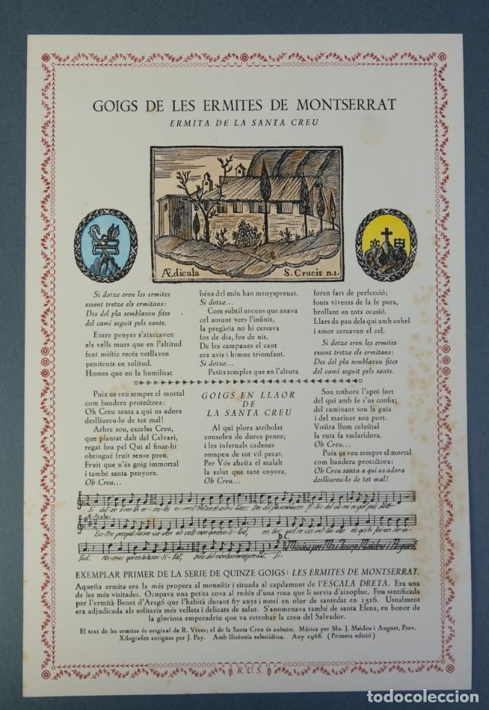 Coleccionismo: 24 Goigs/Aleluyas de les Ermites de Montserrat-Primera edición de 1968-Joan Rius i Vila Editor - Foto 9 - 213387720