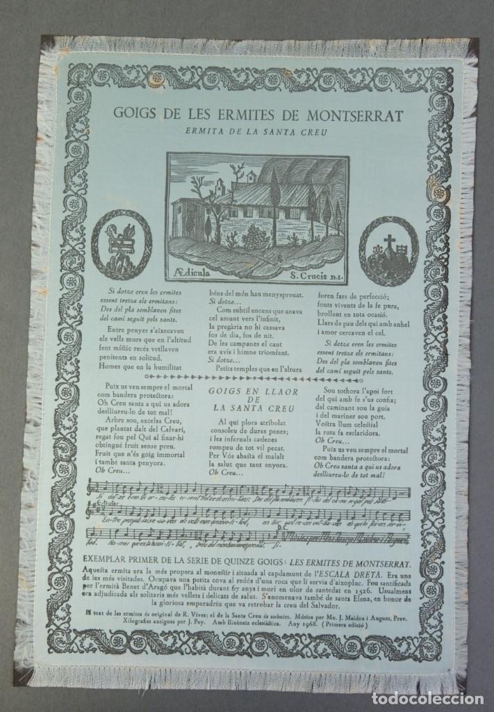 Coleccionismo: 24 Goigs/Aleluyas de les Ermites de Montserrat-Primera edición de 1968-Joan Rius i Vila Editor - Foto 11 - 213387720