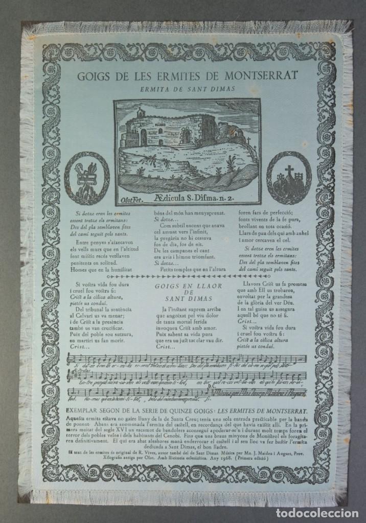 Coleccionismo: 24 Goigs/Aleluyas de les Ermites de Montserrat-Primera edición de 1968-Joan Rius i Vila Editor - Foto 18 - 213387720