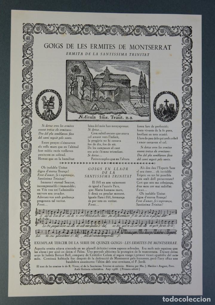 Coleccionismo: 24 Goigs/Aleluyas de les Ermites de Montserrat-Primera edición de 1968-Joan Rius i Vila Editor - Foto 20 - 213387720