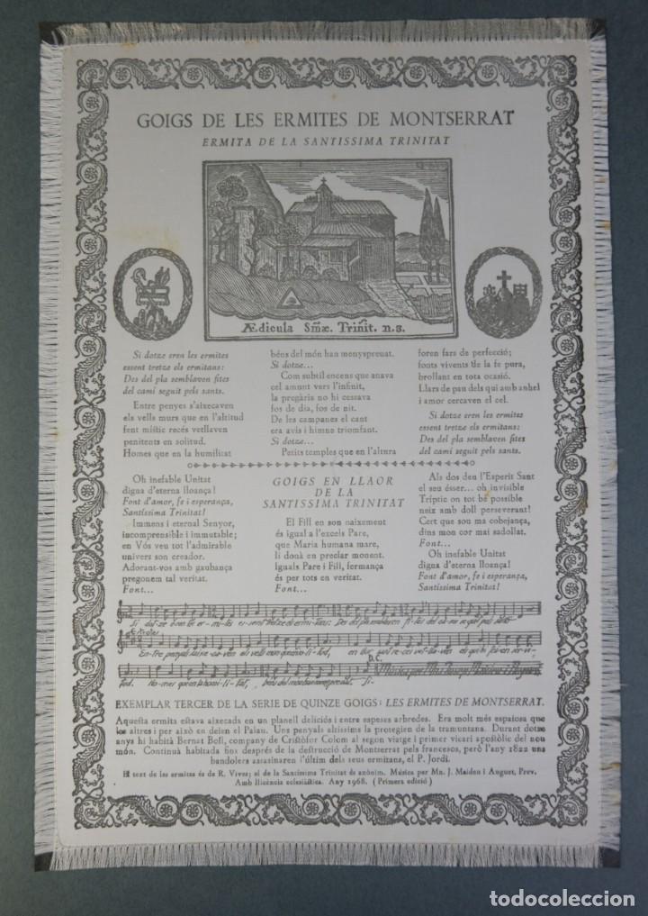 Coleccionismo: 24 Goigs/Aleluyas de les Ermites de Montserrat-Primera edición de 1968-Joan Rius i Vila Editor - Foto 25 - 213387720