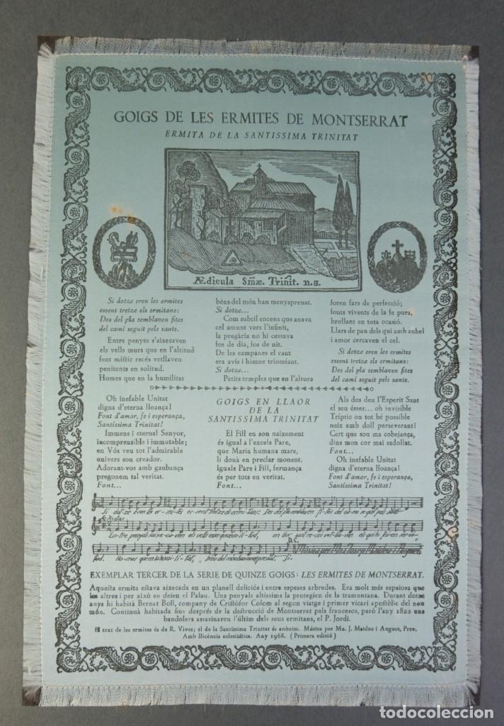 Coleccionismo: 24 Goigs/Aleluyas de les Ermites de Montserrat-Primera edición de 1968-Joan Rius i Vila Editor - Foto 26 - 213387720