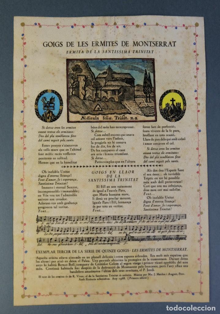 Coleccionismo: 24 Goigs/Aleluyas de les Ermites de Montserrat-Primera edición de 1968-Joan Rius i Vila Editor - Foto 27 - 213387720