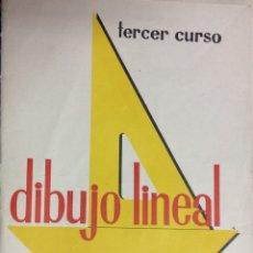 Coleccionismo: 25 LÁMINAS DE DIBUJO TÉCNICO BÁSICO. DIBUJO LINEAL. 3 CURSO. EDICIONES BRUÑO. 1960.. Lote 213467002