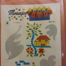 Collezionismo: MOSAICO Nº4. TOTUS. ACTIVIDADES MANUALES. TODO EL MATERIAL PARA REALIZARLO. Lote 213632193