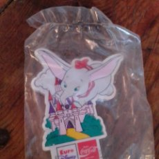 Collectionnisme: IMÁN NEVERA COCACOLA EURO DISNEY DUMBO. Lote 213659597