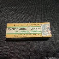 Coleccionismo: ANTIGUA VACUNA ANTIVARIOLICA LLORENTE SIN ABRIR. Lote 213678363