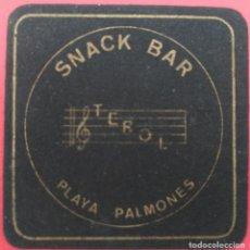 Coleccionismo: POSAVASOS - SNACK BAR TEROL, PLAYA PALMONES (LOS BARRIOS) - AÑOS 80. Lote 214016443