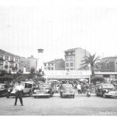 Coleccionismo: GIJÓN: LÁMINA DE LOS JARDINES DEL NÁUTICO HACIA 1955. Lote 214201335