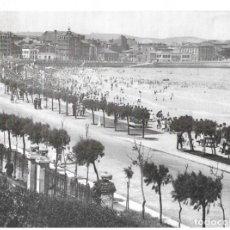 Coleccionismo: GIJÓN: LÁMINA DE LA PLAYA DE SAN LORENZO EN 1940. Lote 214201452