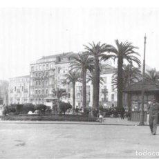 Coleccionismo: GIJÓN: LÁMINA DE LOS JARDINES DE LA REINA EN 1955. Lote 214201550