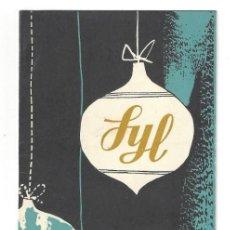 Coleccionismo: FELICITACIÓN NAVIDAD- SYL. GOMEZ MANRIQUE. BARCELONA- 1958. Lote 214204556