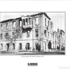 Coleccionismo: GIJON: LÁMINA DEL CUARTEL DE SIMANCAS DURANTE LA GUERRA CIVIL ( 1936 ). Lote 214539378