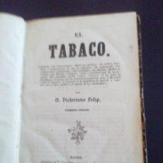 Coleccionismo: EL TABACO LIBRO PRIMERA EDICION 1854. Lote 214650312