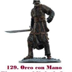 Coleccionismo: EL SEÑOR DE LOS ANILLOS. FIGURA DE PLOMO Nº 129 ORCO MANO BLANCA. CON CAJA.. Lote 244598990