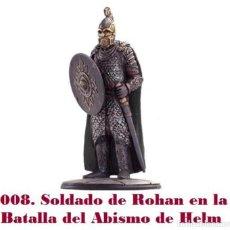 Coleccionismo: EL SEÑOR DE LOS ANILLOS. FIGURA DE PLOMO Nº 8 SOLDADO DE ROHAN. CON CAJA.. Lote 214817691