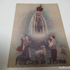 Coleccionismo: NTRA. SRA. DE FATIMA TARJETA DONATIVO CRUZ ROJA ESPAÑOLA. Lote 268118064