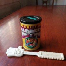 Coleccionismo: LOTE TAZO TAZOS METAL RAPPERS PORTA TAZOS TUBE Y MANO POWER RAPPER MAGIC BOX INT MAD METAL GAME. Lote 215095991