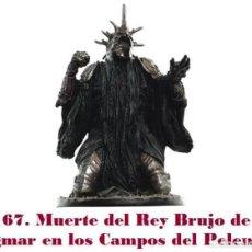 Coleccionismo: EL SEÑOR DE LOS ANILLOS. FIGURA DE PLOMO Nº 167 MUERTE REY BRUJO. CON CAJA.. Lote 215389148