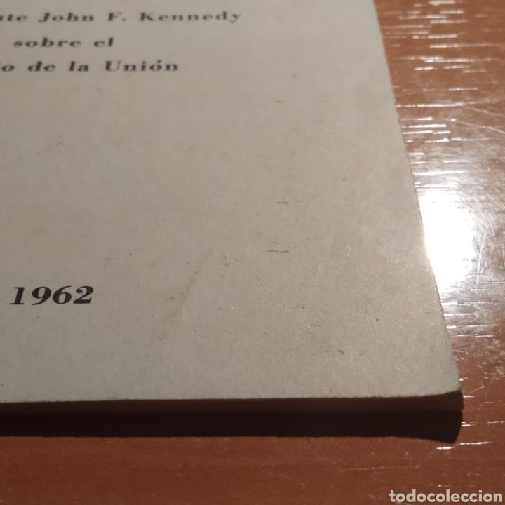 Coleccionismo: LIBRITO - MENSAJE DEL PRESIDENTE J.F. KENNEDY - ENERO 1962 - 26 PAGINAS - ENVIO GRATIS - Foto 5 - 216935371