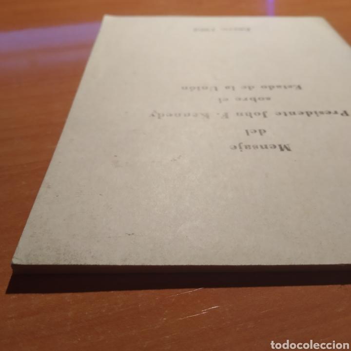 Coleccionismo: LIBRITO - MENSAJE DEL PRESIDENTE J.F. KENNEDY - ENERO 1962 - 26 PAGINAS - ENVIO GRATIS - Foto 7 - 216935371