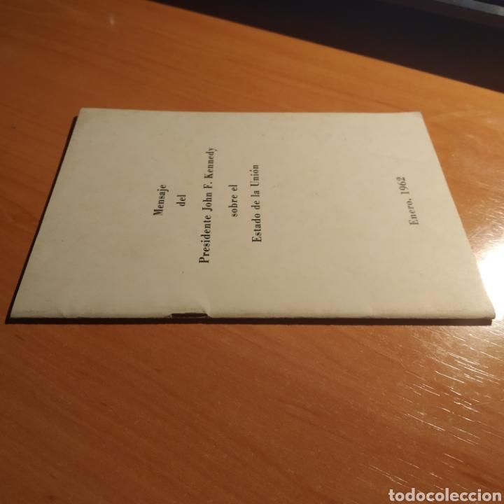 Coleccionismo: LIBRITO - MENSAJE DEL PRESIDENTE J.F. KENNEDY - ENERO 1962 - 26 PAGINAS - ENVIO GRATIS - Foto 9 - 216935371