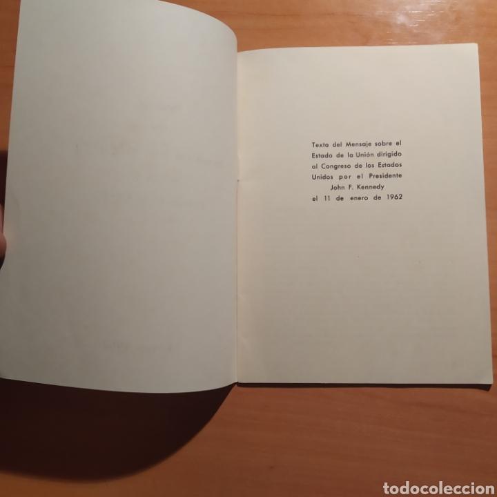 Coleccionismo: LIBRITO - MENSAJE DEL PRESIDENTE J.F. KENNEDY - ENERO 1962 - 26 PAGINAS - ENVIO GRATIS - Foto 8 - 216935371