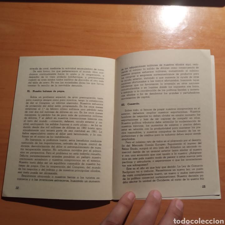 Coleccionismo: LIBRITO - MENSAJE DEL PRESIDENTE J.F. KENNEDY - ENERO 1962 - 26 PAGINAS - ENVIO GRATIS - Foto 12 - 216935371