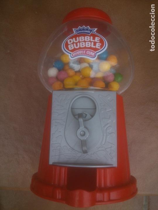 Coleccionismo: Máquina dispensadora de chicles bola Dubble bubbe funciona muy buen estado - Foto 5 - 217053076