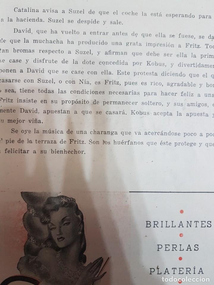 Coleccionismo: ÚNICO!!! PROGRAMA GRAN TEATRO DEL LICEO EL AMIGO FRITZ - 1942 - Foto 5 - 217563331