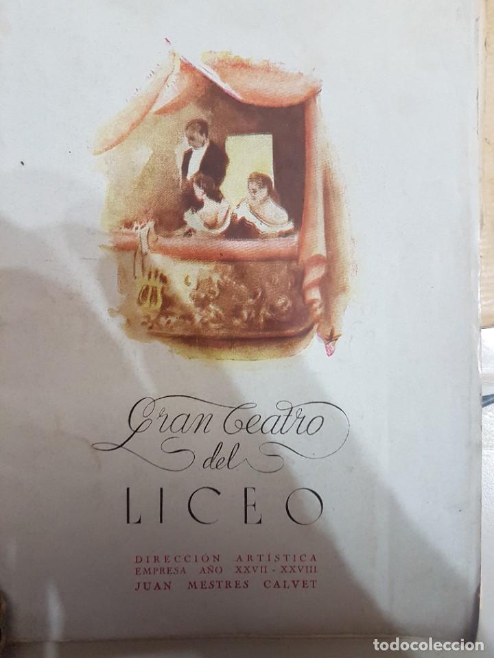 Coleccionismo: ÚNICO!!! PROGRAMA GRAN TEATRO DEL LICEO EL AMIGO FRITZ - 1942 - Foto 7 - 217563331