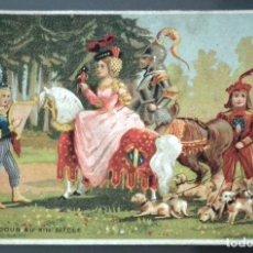 Coleccionismo: MUY ANTIGUA FELICITACIÓN NAVIDEÑA - FELICITACIÓ NADALENCA - LO CARBONER. (EL CARBONERO). Lote 217635707