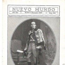 Coleccionismo: AÑO 1909 RECORTE PRENSA RETRATO REY ALFONSO XIII FOTOGRAFIA FOTOGRAFO KAULAK. Lote 217639082