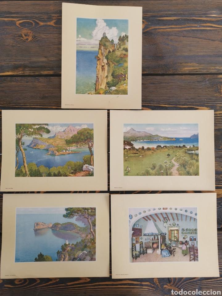5 LÁMINAS DE ERWIN HUBERT (Coleccionismo - Laminas, Programas y Otros Documentos)