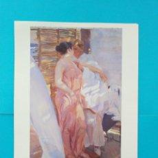 Coleccionismo: 125 AÑOS DE PINTURA VALENCIANA, LAMINA PARA ENMARCAR, LA BATA ROSA 1916, JOAQUÍN SOROLLA BASTIDA. Lote 218046927