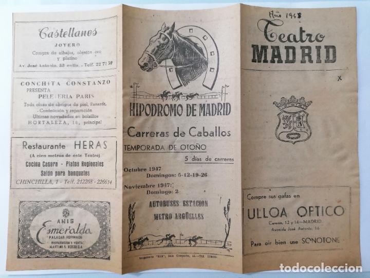 TEATRO MADRID, VINIERON LAS RUBIAS, AÑO 1948 (Coleccionismo - Laminas, Programas y Otros Documentos)