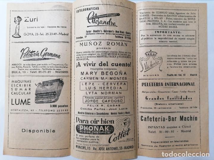 Coleccionismo: TEATRO MARTIN, COMPAÑIA JOSE MUÑOZ ROMAN, PROGRAMA A VIVIR DEL CUENTO, AÑOS 40 - Foto 2 - 218061033