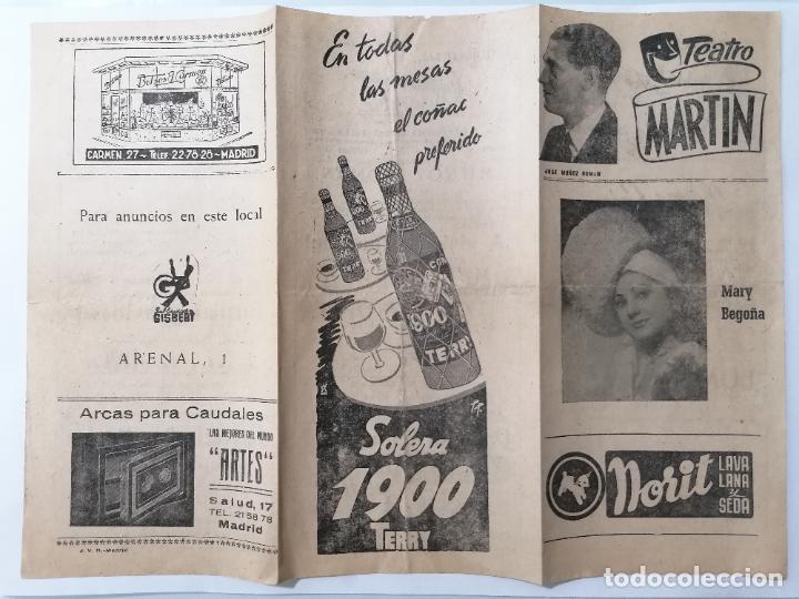 TEATRO MARTIN, COMPAÑIA JOSE MUÑOZ ROMAN, PROGRAMA A VIVIR DEL CUENTO, AÑOS 40 (Coleccionismo - Laminas, Programas y Otros Documentos)