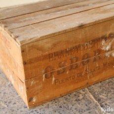 Coleccionismo: CAJA MADERA OSBORNE PUERTO DE SANTAMARIA BRANDY JEREZANO. Lote 218355363