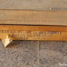 Coleccionismo: CAJA MADERA FRUTAS GLASEADAS FEDERICO GARCIA BELMONTE - ORIHUELA. Lote 218355633