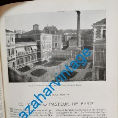 Coleccionismo: 1903, ARTICULO EL INSTITUTO PASTEUR DE PARIS, 3 HOJAS DE PUBLICACION. Lote 218711353