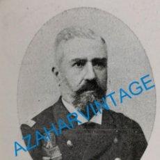 Coleccionismo: 1903, D.ALONSO MORGADO, CAPITAN GENERAL DEL DEPARTAMENTO DEL FERROL, RETAL DE PUBLICACION. Lote 218711753