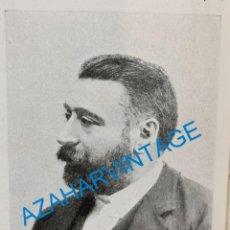Coleccionismo: 1903, D.AURELIANO LINARES RIVAS, POLITICO CONSERVADOR, RETAL DE PUBLICACION. Lote 218711988