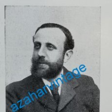 Coleccionismo: 1903, D. CARLOS GONZALEZ ROTHWOSS, GOBERNADOR CIVIL DE BARCELONA, RETAL DE PUBLICACION. Lote 218712346