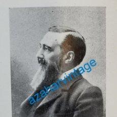 Coleccionismo: 1903, D. ANTONIO GARRIDO, NUEVO ACADEMICO DE BELLAS ARTES, RETAL DE PUBLICACION. Lote 218712405
