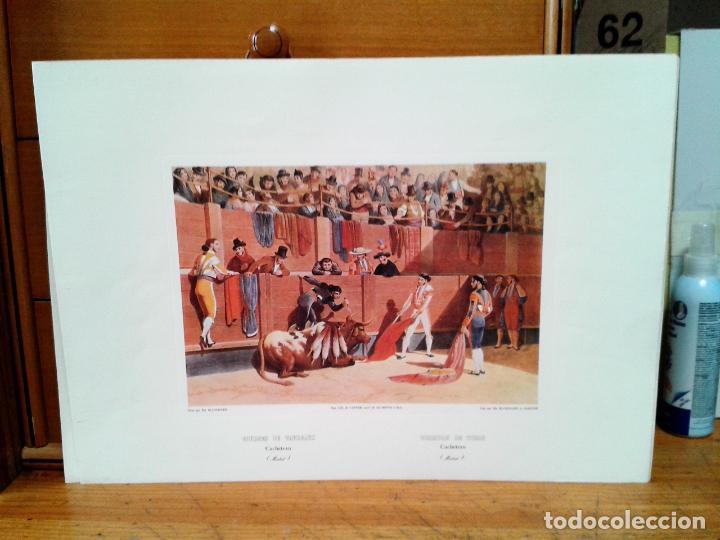 Coleccionismo: Litografias 4. Corridas de Toros. Autor: Blanchard. Impreso por Cattier. - Foto 2 - 218732465