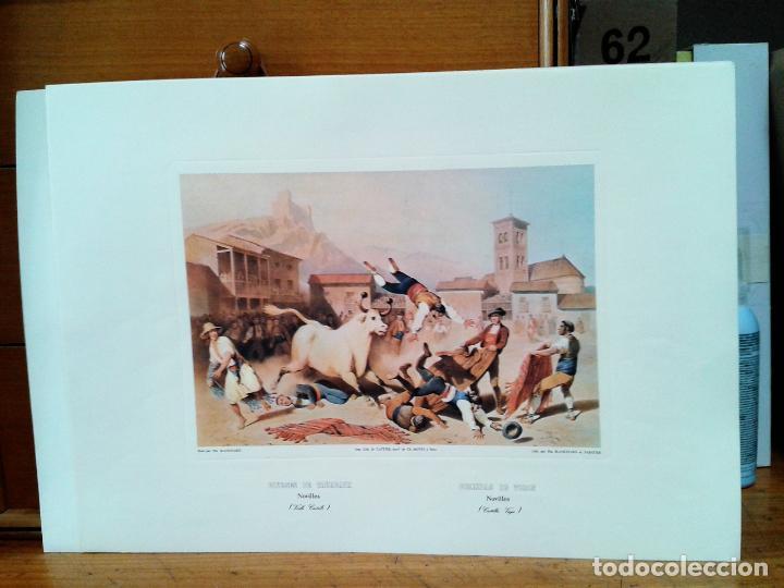 Coleccionismo: Litografias 4. Corridas de Toros. Autor: Blanchard. Impreso por Cattier. - Foto 3 - 218732465