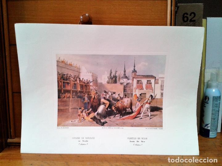 Coleccionismo: Litografias 4. Corridas de Toros. Autor: Blanchard. Impreso por Cattier. - Foto 4 - 218732465